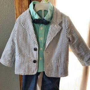 Toddler boy 4 piece suit set